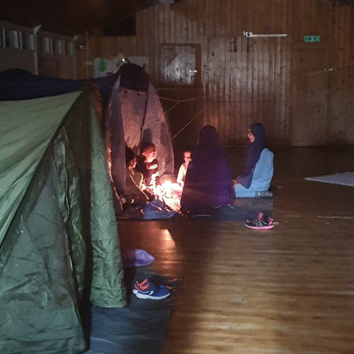Beavers In Tents